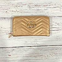833461ebd6f1 Стильный женский кошелек, клатч Gucci, гучи. Золото. Кожа PU