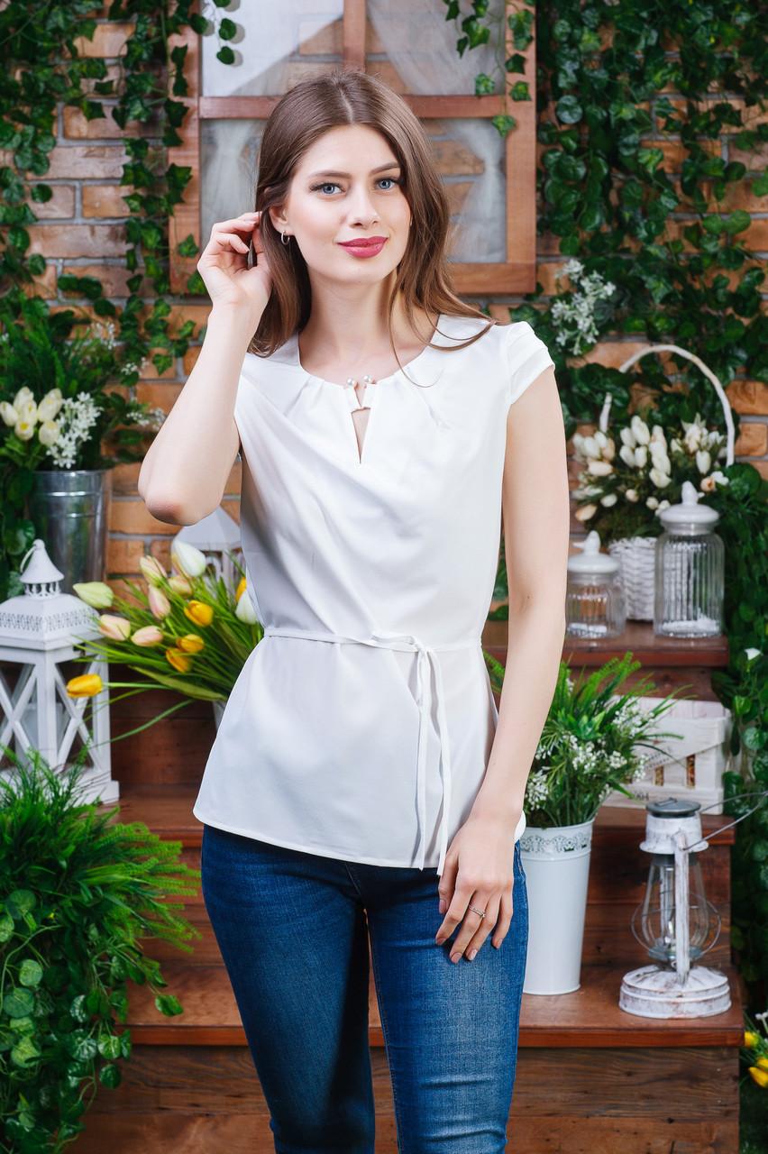 Блуза летння цвет молочный, Бл- 6082