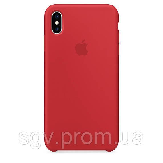 Силиконовый чехол для iPhone X/XS, цвет «красный»