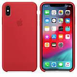 Силиконовый чехол для iPhone X/XS, цвет «красный», фото 3