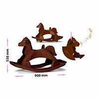 Лошадка-качалка музыкальная (коричневая) 05550/1