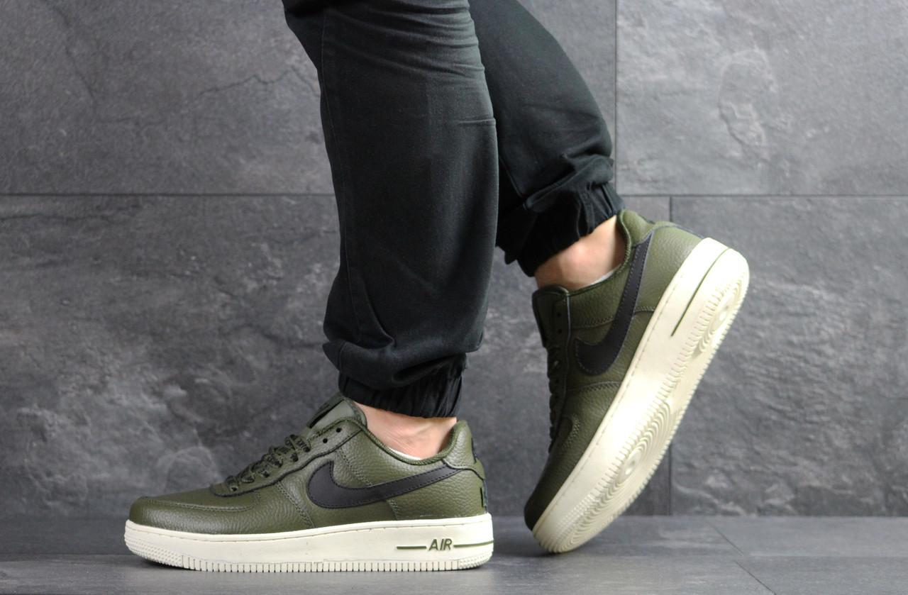 07e7354d Кроссовки мужские Nike Air Force в стиле Найк Аир Форс, натуральная кожа,  текстиль код