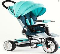 Дитячий велосипед-коляска 6 в 1 Crosser T-600 Rosa бірюзовий
