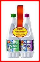 Жидкость для биотуалета Thetford Duopack Campa Green и Campa Rinse Plus 1.5 л