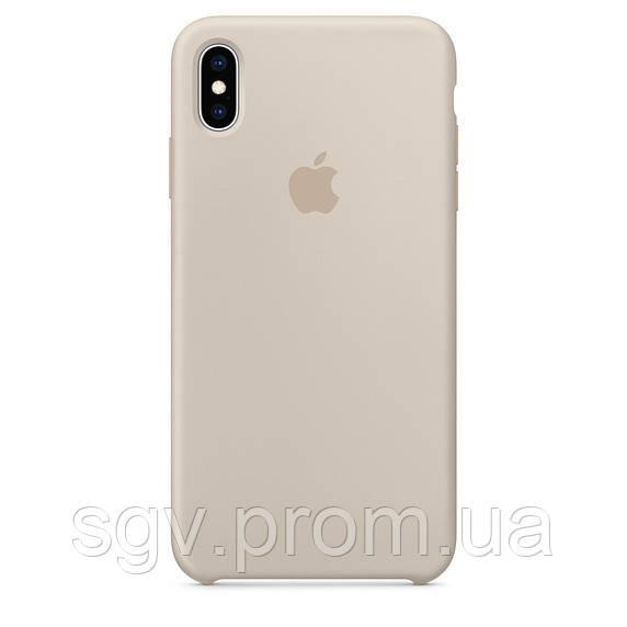 Силиконовый чехол для iPhone X/XS, цвет «бежевый»