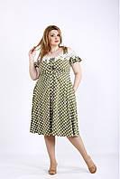 01171-1 | Легкое летнее платье в горох большой размер
