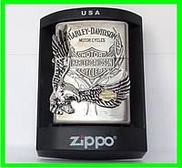Зажигалка ZIPPO Бензиновая (Harley - Devidson Silver) ( 77177 )