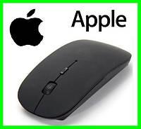 Беспроводная USB Мышка Дизайн APPLE Тонкая Для Компьютеров и Ноутбуков (BLACK) ( 77177 )