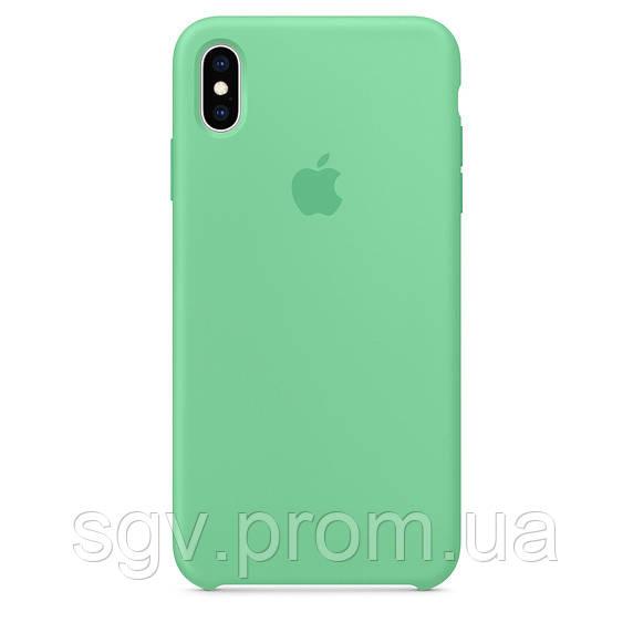 Силиконовый чехол для iPhone X/XS, цвет «нежная мята»