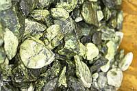 Галька мраморная зелёная (греческая)