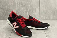 Кроссовки M 22 (New Balance) (лето, мужские, текстиль, черный-красный)