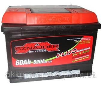 Аккумулятор автомобильный Sznajder Plus +Ca 60AH L+ 560А (56096)