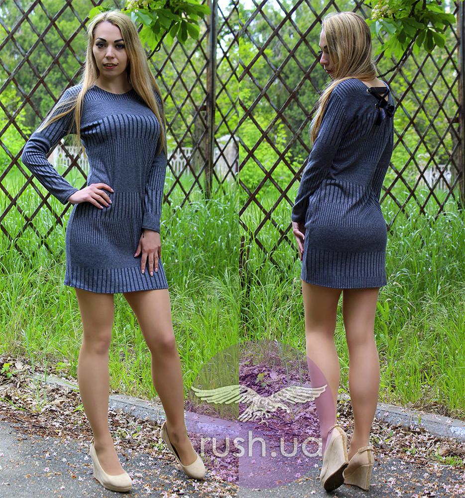 Платье женское с лентами на спине