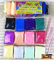 Легкий пластилин (моделин) набор 12 цветов