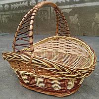 Корзина плетеная лакированая для хранения