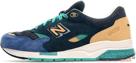 "Мужские кроссовки New Balance x Social Status CM1600 ""Winter in the Hamptons"", Нью беланс 1600, фото 2"