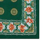 """Павлопосадский платок шелковый  шейный """"Экзотический цветок"""" рис. 1031-9 (крепдешин) размер 52х52 см, фото 2"""