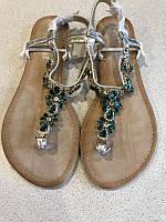 Женские сандали Bestelle серебристого цвета