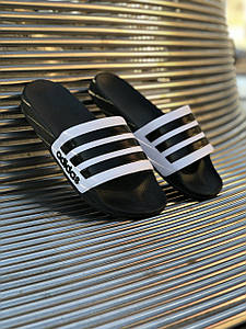 Шлёпки Adidas Белые-Черные