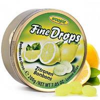 Леденцы (конфеты) Woogie Fine Drops (мелкие капли)  лимонный вкусАвстрия 200г