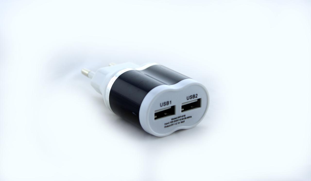 Адаптер зарядка 220V на 2 USB