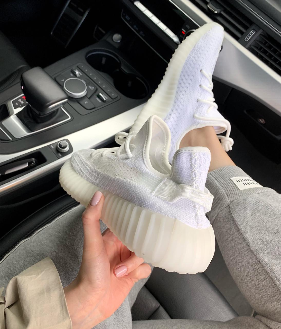 Adidas Yeezy Boost 350 v2 Clear White | кроссовки женские и мужские; летниевесенние; белые Bigl.ua