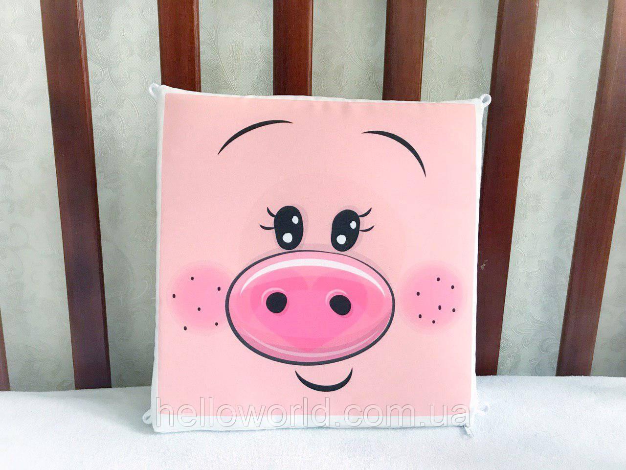 Бортик Мордашка розовой свинки