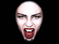 Клыки на Хэллоуин 2 шт (вампир, зомби)