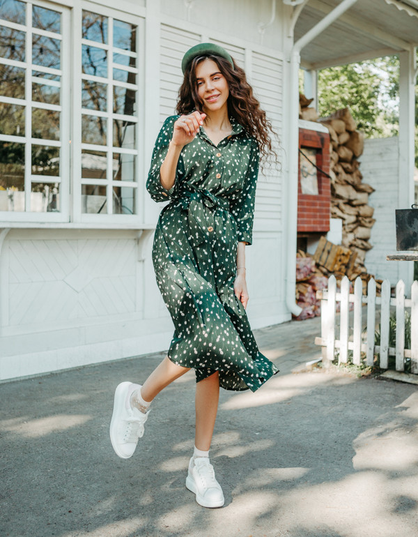 Платье LiLove 1-005 46-48 зеленый