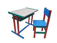 Столик со стульчиком разноцветный //