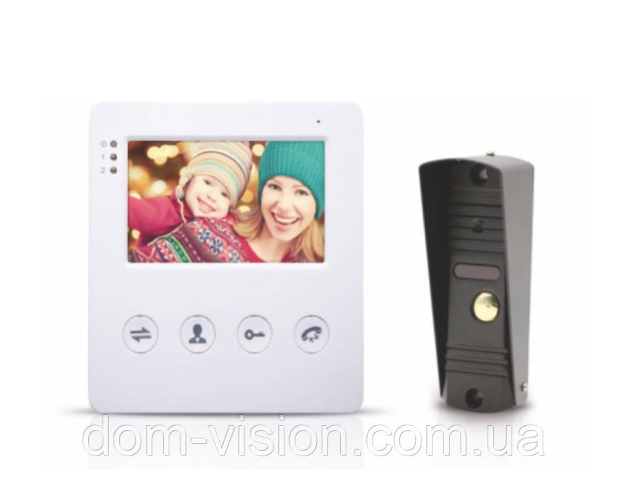 Комплект Видеодомофон и вызывная панель DOM
