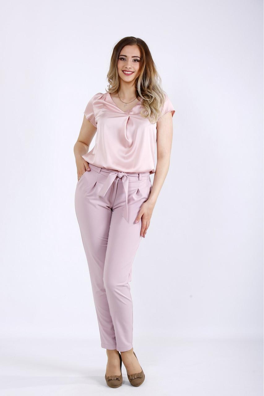 Красиві ніжні штани жіночі офісні фрезія великий розмір 42-74. B056-1