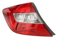 Фонарь задний левый Honda Civic IX (седан) (дорестайл) 2011 - 2013 внешний, W21/5W+WY21W+W21W, (Depo, 117-1905L-UE) OE 33550TR0E01 - шт.