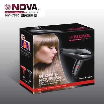 Фен для волос Nova NV-7080 2500 Вт , фото 2