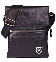 Кожаная мужская сумка Philipp Plein 24х18 см. Мужская сумка из натуральной кожи, фото 1