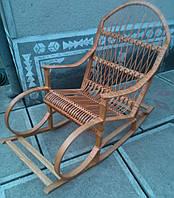 Крісло качалка плетені з лози | крісло-гойдалка для відпочинку садова для дачі