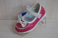 Туфли для девочки коралловые  22 раз.