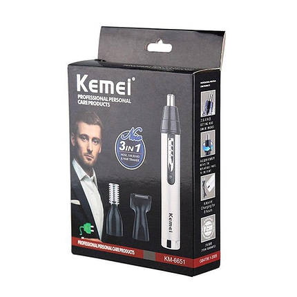 Триммер для носа ушей и бровей Kemei Km-6651, фото 2