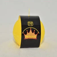 Свеча Рустик шар желтая S88-325,ТМ Pragnis