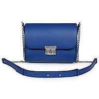 1cd411704f9d Женская Сумка на длинном ремешке Katerina Fox синего цвета из натуральной  кожи (KF-711