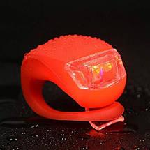 Велосипедный силиконовый фонарь Sanyi 2 шт., фото 3