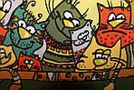 """Павлопосадский платок шелковый  шейный """"Мартовский"""" рис. 1085-10 (крепдешин) размер 52х52 см, фото 4"""