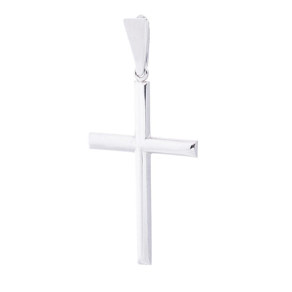 Золотой крестик с белого золота