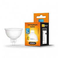 Лампа светодиодная VIDEX MR16е 3W GU5.3 4100K 220V (23931)