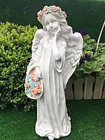 Садова фігура ангел с корзиною (висота 43 см )