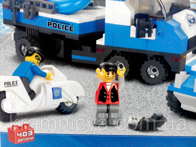 "Купить Конструктор ""Полицейский спецназ"", 403 деталей для мальчика в Крамниці Творчості"