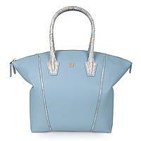 17016eac0548 Женская Сумка Katerina Fox сиренево-голубого (безмятежность) цвета из  натуральной кожи с принтом