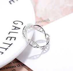 "Серебряное кольцо без вставок ""Химия любви"""