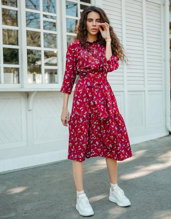 Платье LiLove 1-005 46-48 Бордовый