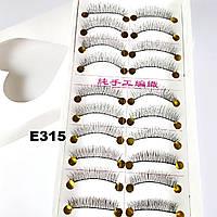 Качественные натуральные ресницы по 10 пар (11 видов) 10, К центру, На нитке